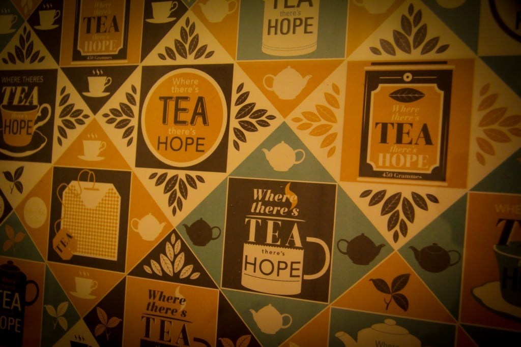 Where there's tea there's hope - wrapping paper