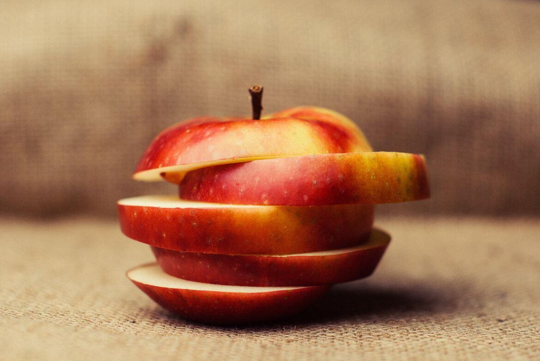 Äpplen oxideras i syre precis som te