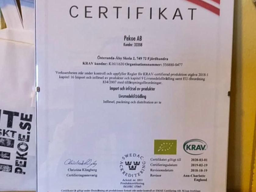 Vi är KRAV-certifierade