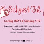 Schysst jul Stockholm julmarknad 2019 info 30/11 & 1/12 10–16