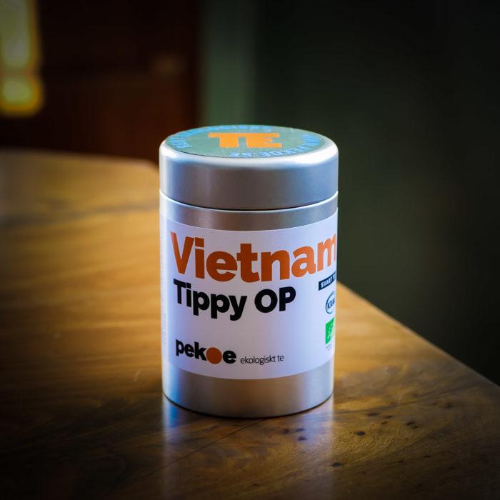 ekologiskt svart te från Vietnam