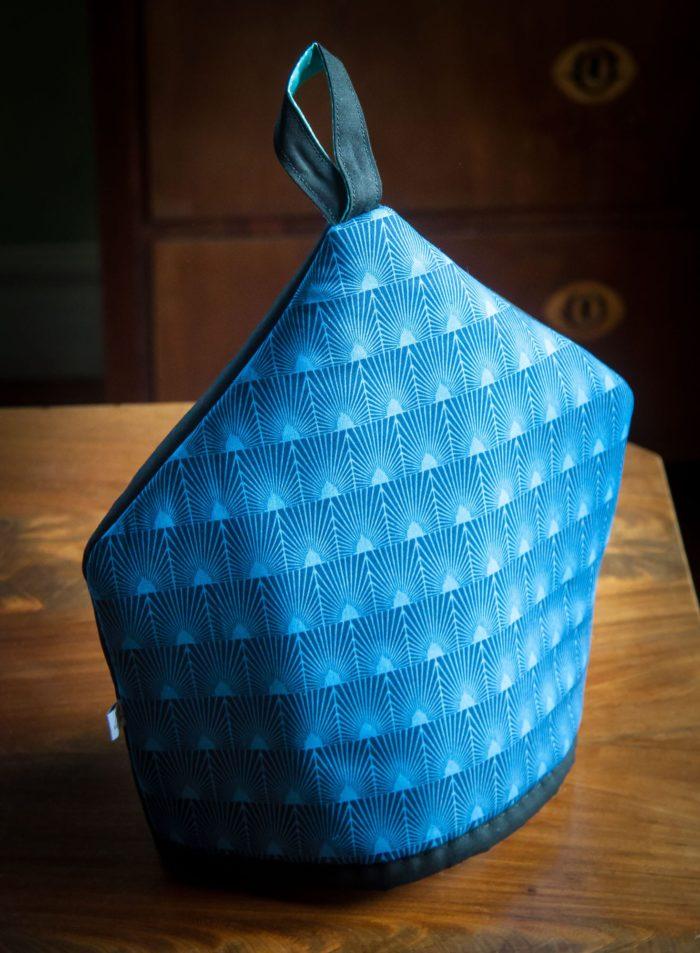 tehuva mönstrad i blått