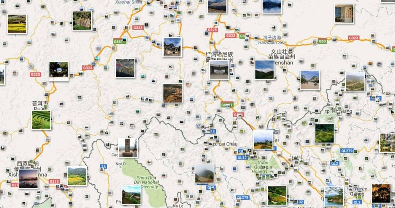Yunnan Vietnam karta